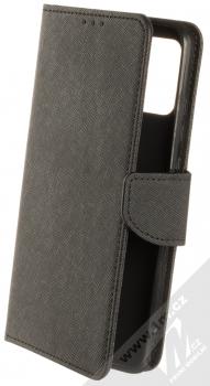 1Mcz Fancy Book flipové pouzdro pro Samsung Galaxy A02s černá (black)