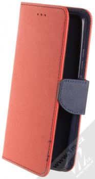 1Mcz Fancy Book flipové pouzdro pro Xiaomi Poco F2 Pro červená modrá (red blue)