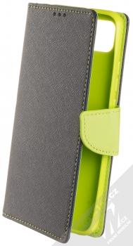 1Mcz Fancy Book flipové pouzdro pro Xiaomi Redmi 9C modrá limetkově zelená (blue lime)