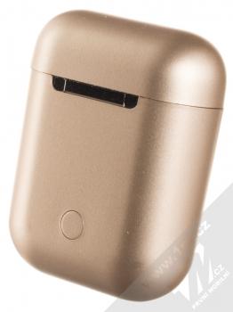 1Mcz i12 inPods Eleven Pro TWS Bluetooth stereo sluchátka růžově zlatá (rose gold) nabíjecí pouzdro zezadu