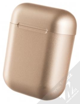 1Mcz i12 inPods Eleven Pro TWS Bluetooth stereo sluchátka růžově zlatá (rose gold) nabíjecí pouzdro