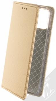 1Mcz Magnet Book flipové pouzdro pro Apple iPhone 12, iPhone 12 Pro zlatá (gold)