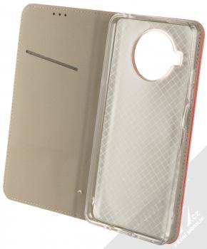1Mcz Magnet Book flipové pouzdro pro Xiaomi Mi 10T Lite 5G červená (red) otevřené