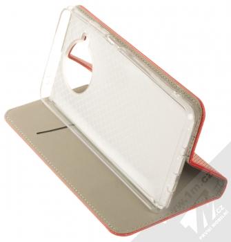 1Mcz Magnet Book flipové pouzdro pro Xiaomi Mi 10T Lite 5G červená (red) stojánek