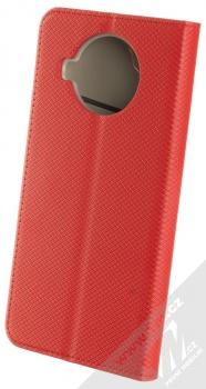 1Mcz Magnet Book flipové pouzdro pro Xiaomi Mi 10T Lite 5G červená (red) zezadu
