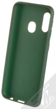 1Mcz Matt TPU ochranný kryt pro Samsung Galaxy A20e tmavě zelená (forest green) zepředu
