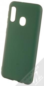 1Mcz Matt TPU ochranný kryt pro Samsung Galaxy A20e tmavě zelená (forest green)