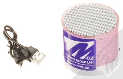 1M.cz Music Mini Speaker Bluetooth reproduktor růžová (pink) balení