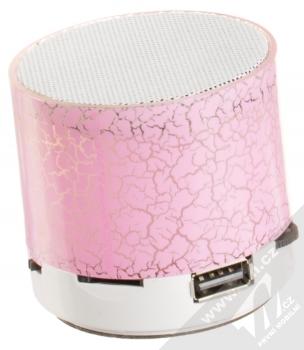 1M.cz Music Mini Speaker Bluetooth reproduktor růžová (pink) zezadu