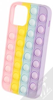 1Mcz Pop It antistresový ochranný kryt pro Apple iPhone 12, iPhone 12 Pro duhová (rainbow)