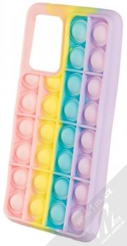 1Mcz Pop It antistresový ochranný kryt pro Samsung Galaxy A72, Galaxy A72 5G duhová (rainbow)
