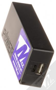 1M.cz Power Bank záložní zdroj 5600mAh černá (black) konektory