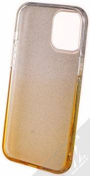 1Mcz Shining Duo TPU třpytivý ochranný kryt pro Apple iPhone 12 Pro Max stříbrná zlatá (silver gold) zepředu