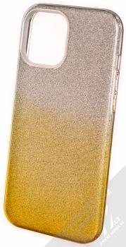 1Mcz Shining Duo TPU třpytivý ochranný kryt pro Apple iPhone 12 Pro Max stříbrná zlatá (silver gold)