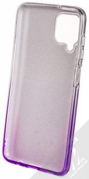 1Mcz Shining Duo TPU třpytivý ochranný kryt pro Samsung Galaxy A12 stříbrná fialová (silver violet) zepředu