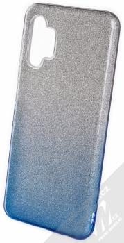 1Mcz Shining Duo TPU třpytivý ochranný kryt pro Samsung Galaxy A32 5G stříbrná modrá (silver blue)