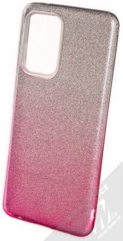 1Mcz Shining Duo TPU třpytivý ochranný kryt pro Samsung Galaxy A52, Galaxy A52 5G, Galaxy A52s 5G stříbrná růžová (silver pink)