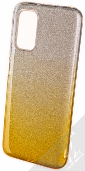 1Mcz Shining Duo TPU třpytivý ochranný kryt pro Xiaomi Redmi 9T, Poco M3 stříbrná zlatá (silver gold)