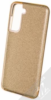 1Mcz Shining TPU třpytivý ochranný kryt pro Samsung Galaxy S21 zlatá (gold)