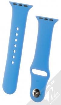 1Mcz Silikonový sportovní řemínek pro Apple Watch 38mm, Watch 40mm chrpově modrá (cornflower blue)