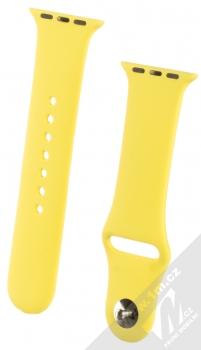 1Mcz Silikonový sportovní řemínek pro Apple Watch 38mm, Watch 40mm citrónově žlutá (lemon)