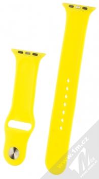 1Mcz Silikonový sportovní řemínek pro Apple Watch 42mm, Watch 44mm žlutá (yellow) zezadu