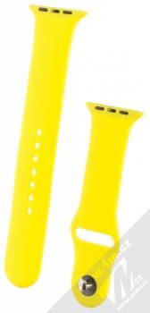 1Mcz Silikonový sportovní řemínek pro Apple Watch 42mm, Watch 44mm žlutá (yellow)