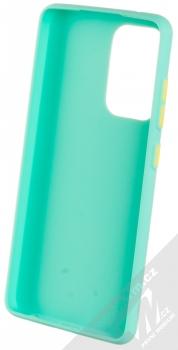 1Mcz Solid TPU ochranný kryt pro Samsung Galaxy A52, Galaxy A52 5G mátově zelená (mint green) zepředu