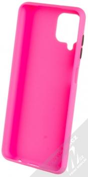1Mcz Solid TPU ochranný kryt pro Samsung Galaxy A12 sytě růžová (hot pink) zepředu