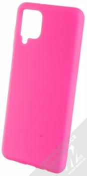 1Mcz Solid TPU ochranný kryt pro Samsung Galaxy A12 sytě růžová (hot pink)