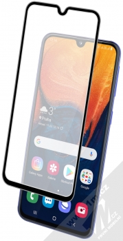 1Mcz Thin Glass 9D tenké ochranné tvrzené sklo na kompletní displej pro Samsung Galaxy A40 černá (black) s telefonem