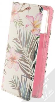 1Mcz Trendy Book Oleandr a kapradí 1 flipové pouzdro pro Samsung Galaxy A72, Galaxy A72 5G bílá (white)