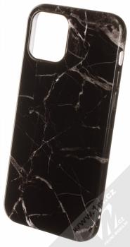 1Mcz Trendy Mramor TPU ochranný kryt pro Apple iPhone 12, iPhone 12 Pro černá šedá (black grey)