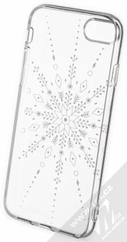 1Mcz Trendy Sněhová vločka TPU ochranný kryt pro Apple iPhone 7, iPhone 8, iPhone SE (2020) průhledná (transparent) zepředu