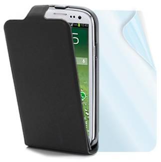 Muvit Slim kožené pouzdro pro Samsung i9500 Galaxy S IV, i9505 Galaxy S4, i9506 Galaxy S4 LTE-A černá (black)