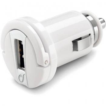 CellularLine Micro USB Smart nabíječka do auta s USB výstupem bílá (white)