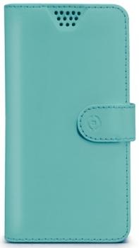 Celly Wally Unica XL univerzální flipové pouzdro pro mobilní telefon, mobil, smartphone tyrkysová (turquoise)