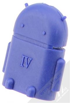 Aligator OTG redukce microUSB na USB - miniaturní Android robot modrá (blue)
