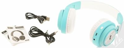 ART AP-B04-C Bluetooth Stereo headset bílá tyrkysová (white cyan) balení