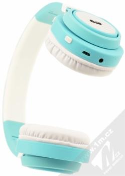 ART AP-B04-C Bluetooth Stereo headset bílá tyrkysová (white cyan) zezdola