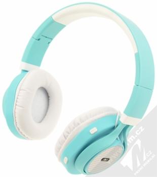 ART AP-B04-C Bluetooth Stereo headset bílá tyrkysová (white cyan)