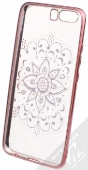 Beeyo Mandala pokovený ochranný kryt pro Huawei P10 růžová průhledná (pink transparent) zepředu