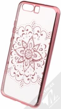 Beeyo Mandala pokovený ochranný kryt pro Huawei P10 růžová průhledná (pink transparent)