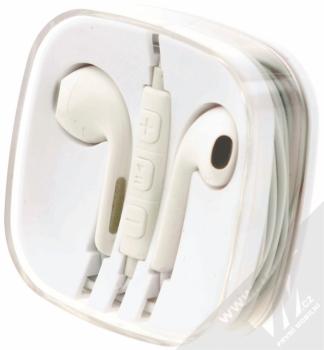Blue Star Android Headset sluchátka s mikrofonem a ovladačem bílá (white) krabička