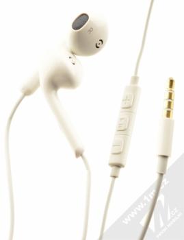 Blue Star Android Headset sluchátka s mikrofonem a ovladačem bílá (white)