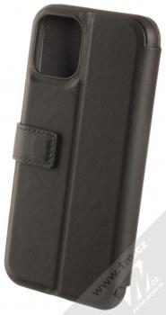 BMW Signature Real Leather flipové pouzdro z pravé kůže pro Apple iPhone 11 Pro (BMFLBKSN58LLSB) černá (black) zezadu