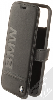 BMW Signature Real Leather flipové pouzdro z pravé kůže pro Apple iPhone 11 Pro (BMFLBKSN58LLSB) černá (black)