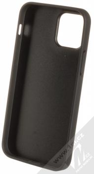 BMW Signature Textured Real Leather ochranný kryt z pravé kůže pro Apple iPhone 12, iPhone 12 Pro (BMHCP12MPOCBK) černá (black) zepředu