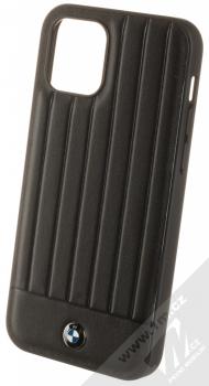 BMW Signature Textured Real Leather ochranný kryt z pravé kůže pro Apple iPhone 12, iPhone 12 Pro (BMHCP12MPOCBK) černá (black)
