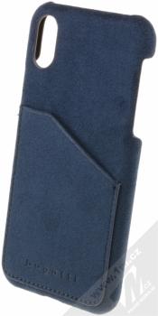 Bugatti Londra Ultrasuede Snap Case ochranný kryt ze semiše pro Apple iPhone X tmavě modrá (dark blue)